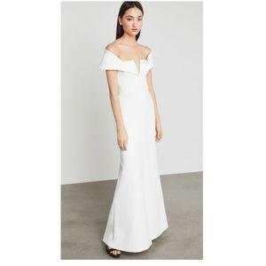 BCBG White Gown